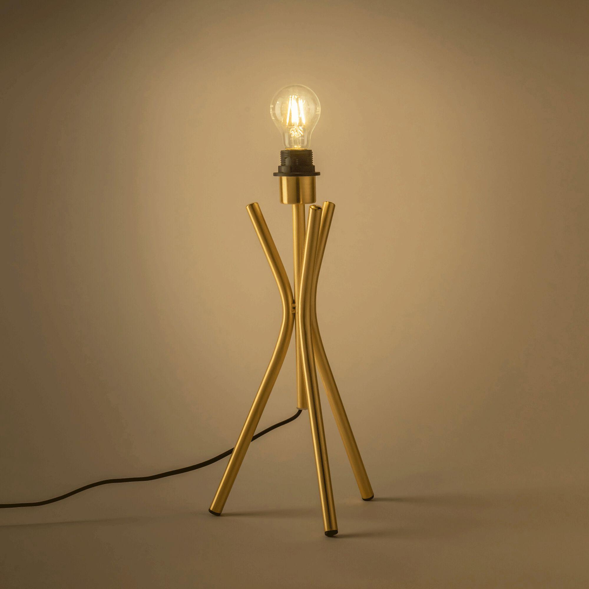 Lampe en acier - doré H44,5cm-TAMARIU