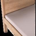 Lit 2 places avec tête de lit  160x200 cm-GAIA