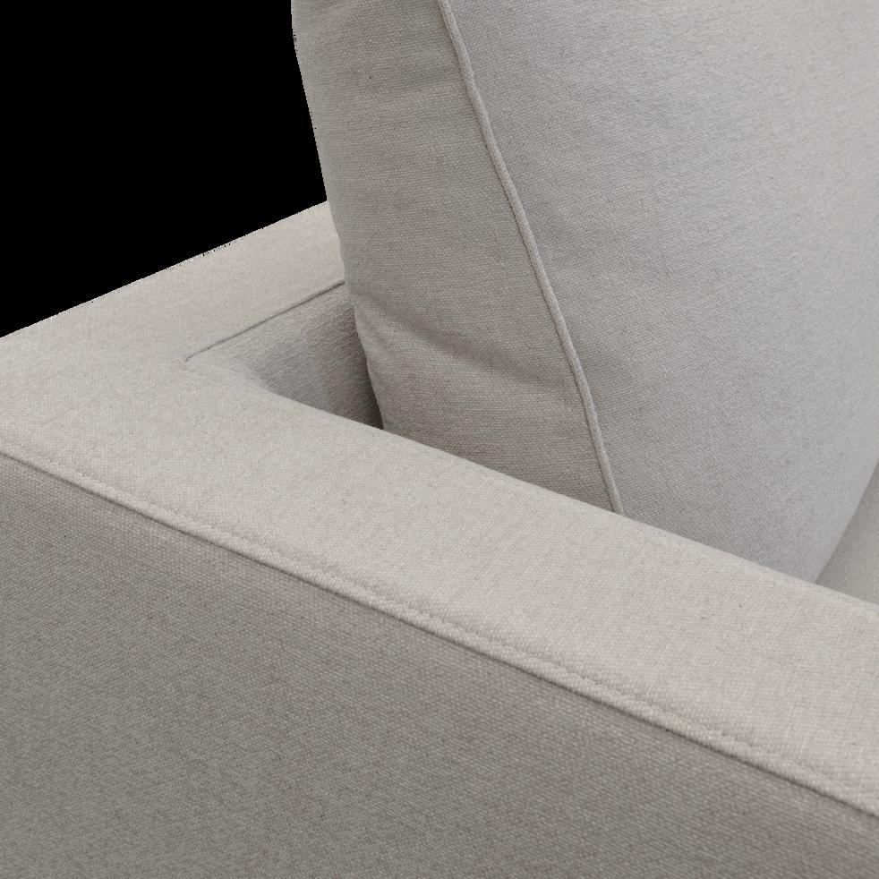 Élément de canapé 3 places gauche modulable en tissu beige roucas-AUDES