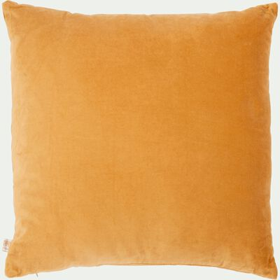 Coussin en velours - beige nèfle 45x45cm-EDEN