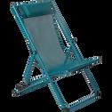 Chilienne en acier et toile enduite 3 positions Bleu niolon-SALERNA