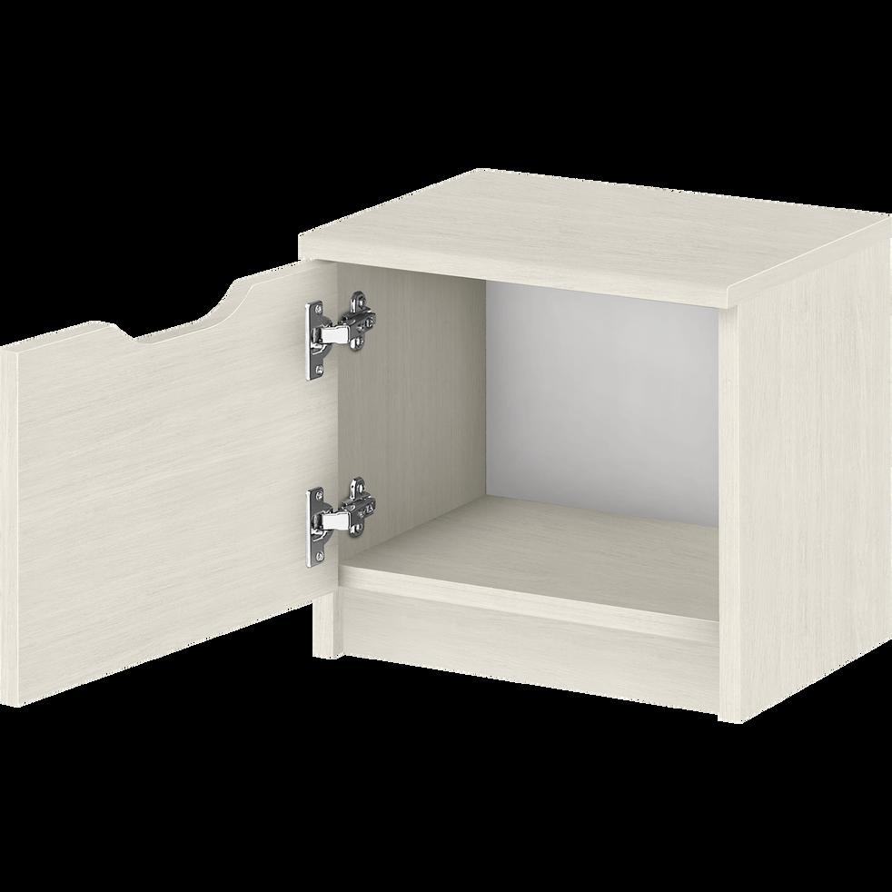 table de chevet finition cerisier blanchi 1 porte brooklyn catalogue storefront alin a alinea. Black Bedroom Furniture Sets. Home Design Ideas