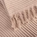 Plaid en coton rose argile 130x170cm-SAN REMO