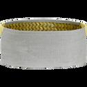 Panier de rangement ovale gris 35x25xh14cm (grand modèle)-ALY
