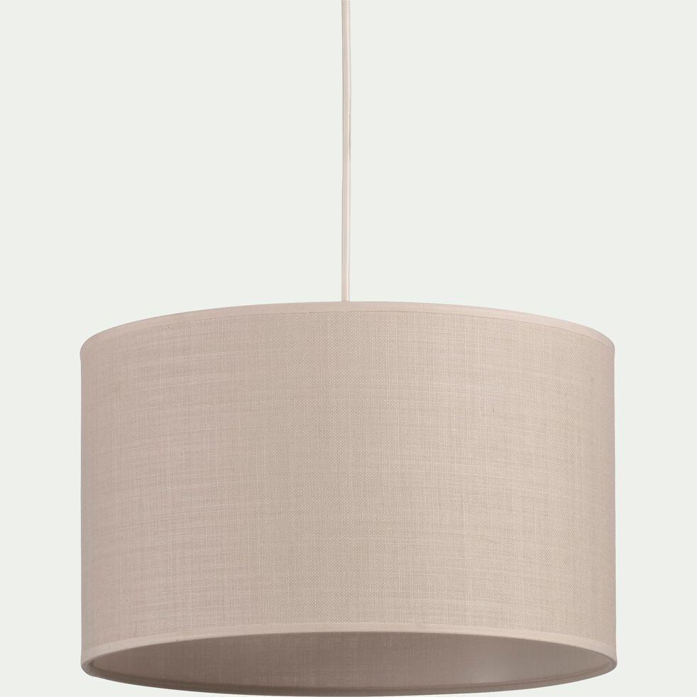 Suspension cylindrique en coton - D40cm beige roucas-MISTRAL