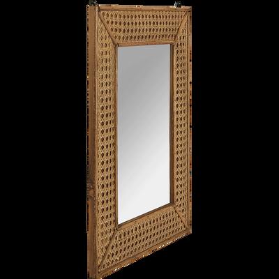 Miroir rectangulaire en bois naturel 45*35 cm-Artemisia