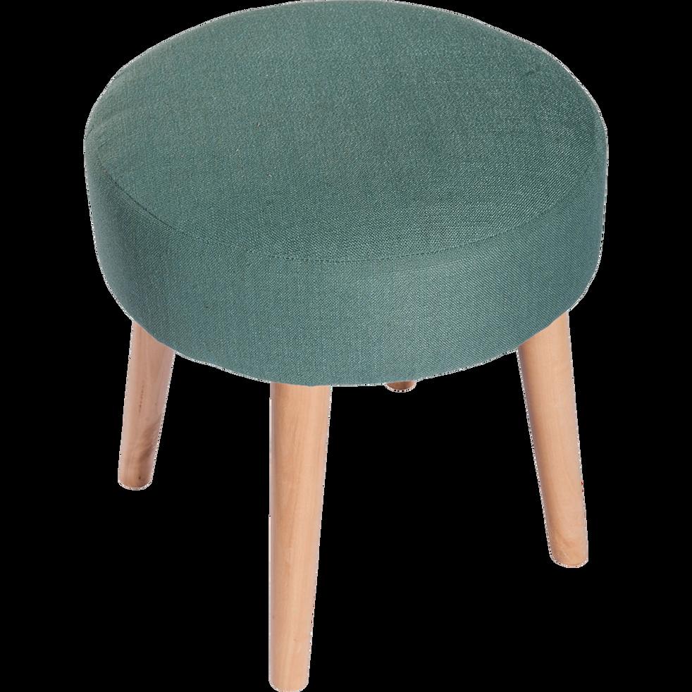 pouf en tissu bleu canard plume poufs et repose pieds alinea. Black Bedroom Furniture Sets. Home Design Ideas