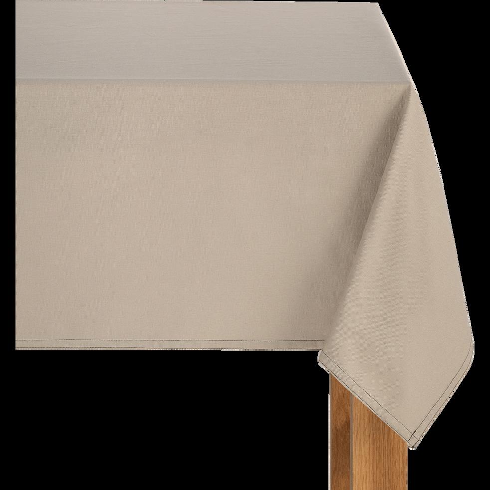 Nappe en coton beige alpilles 145x300cm-VENASQUE