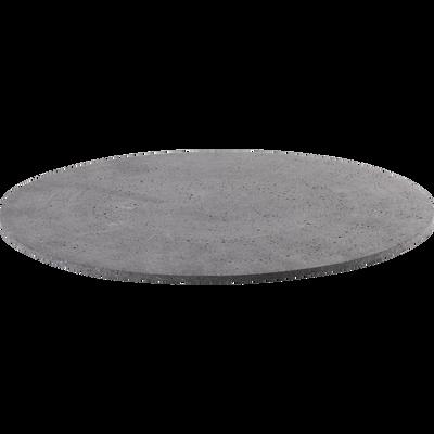 Plateau rond effet béton D30cm-CALCIS