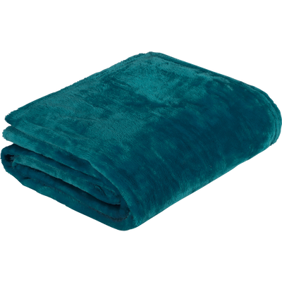 Plaid doux bleu figuerolles 130x170cm-ROBIN