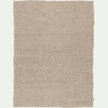 Tapis en laine et coton - gris clair 120x170cm-MAUSSANE
