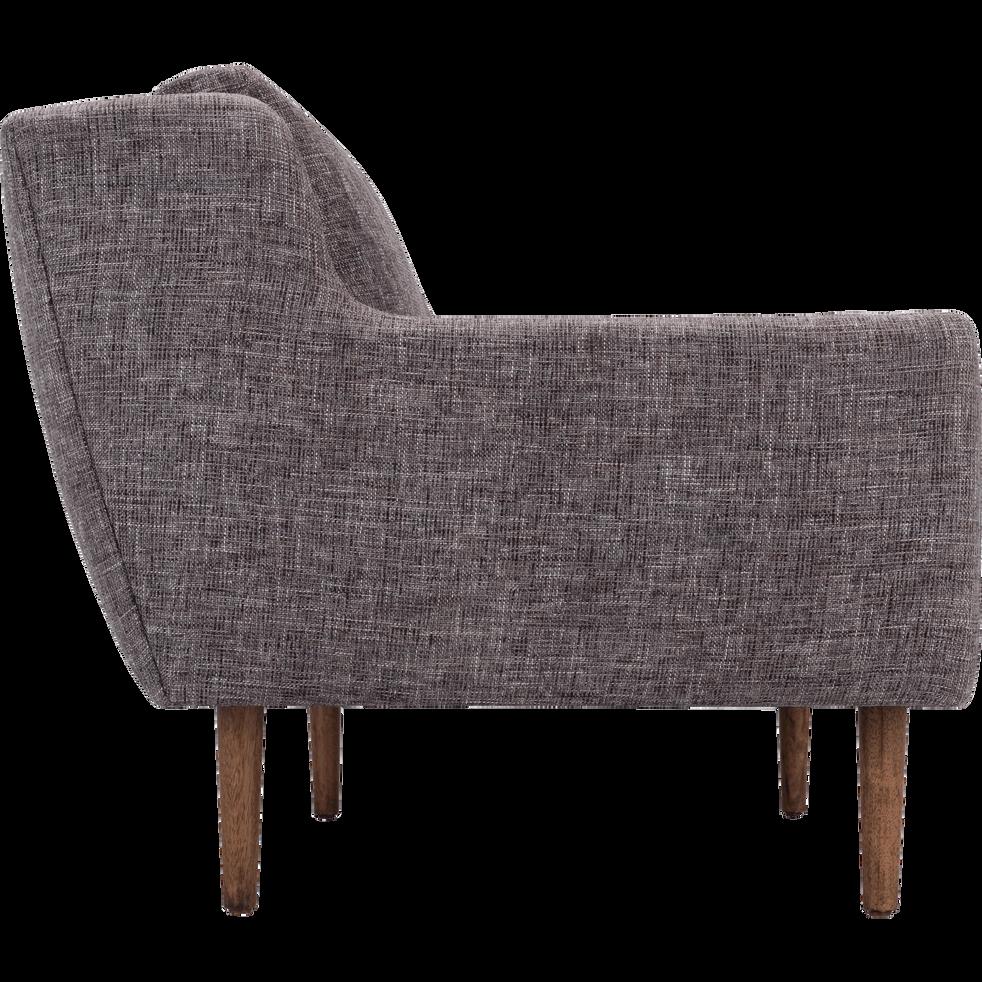 canap 3 places fixe en tissu gris restanque roucaous canap s en tissu alinea. Black Bedroom Furniture Sets. Home Design Ideas