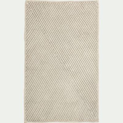 Tapis de bain tissé plat en coton - taupe 50x80cm-HUPPE