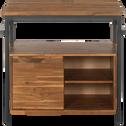 Meuble sous-vasque en acacia et métal 90cm-KOTA