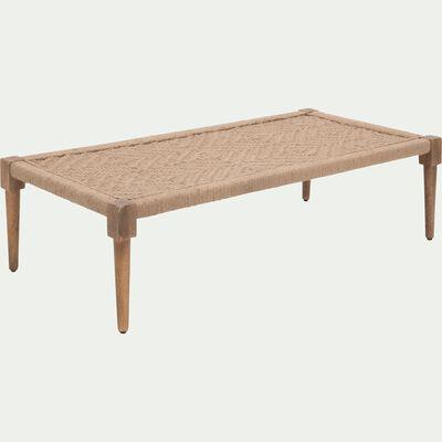 Banc en bois beige roucas-AGNEL