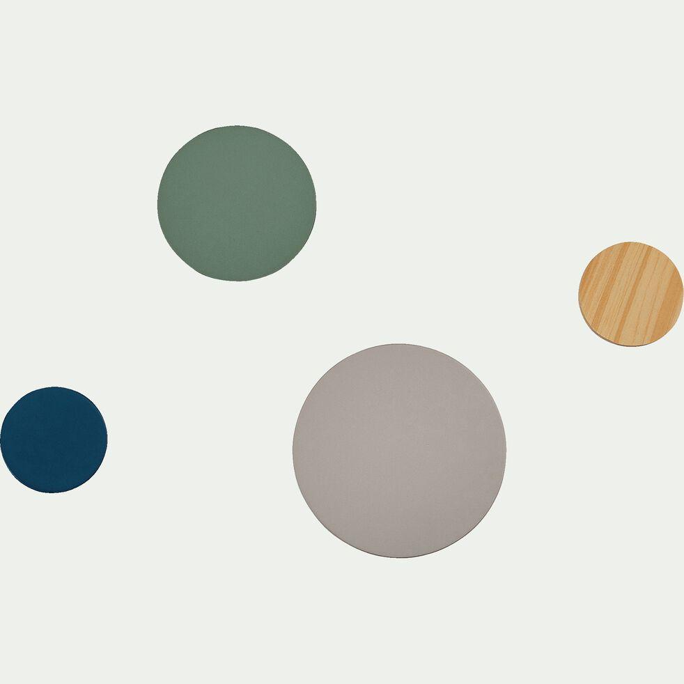 Lot de 4 patères en bois - multicolore-Gafet
