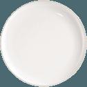Assiette plate en faïence blanc ventoux D27cm-LANKA