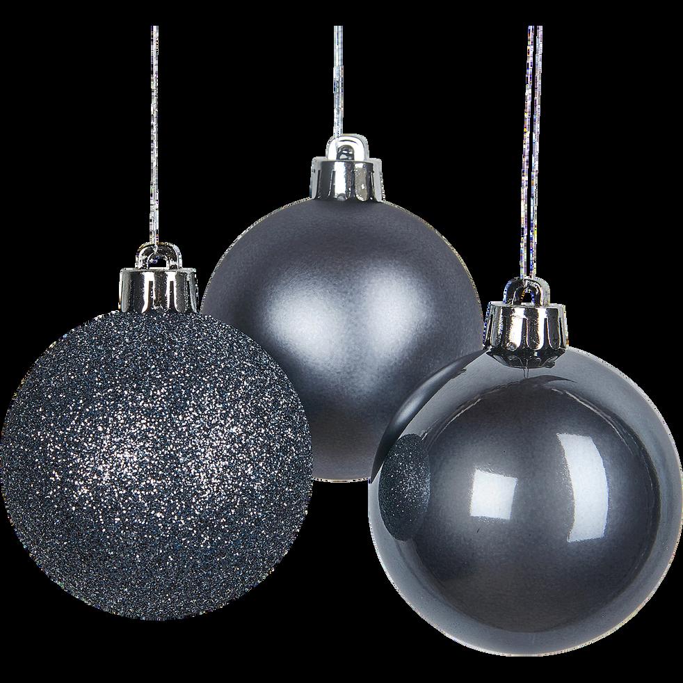 Lot de boules en verre grises 10 pièces D6cm-BIZO