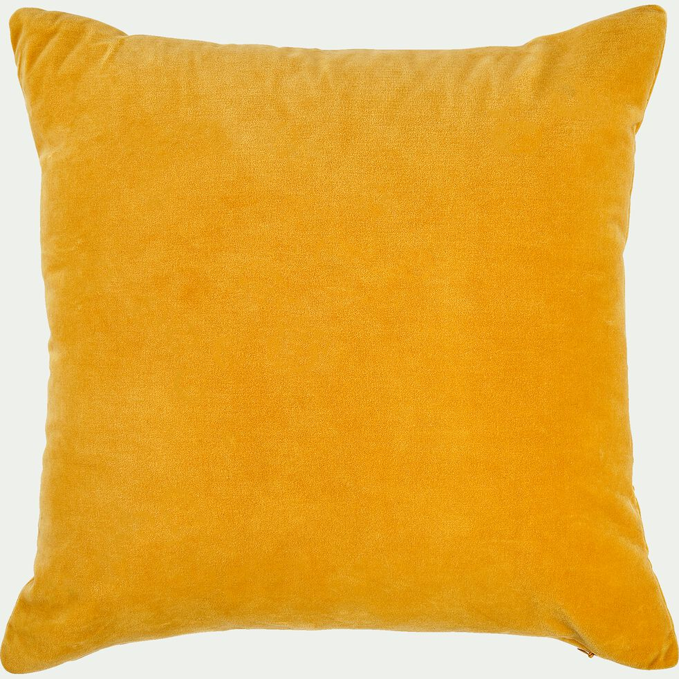 Coussin velours 40x40 cm - jaune-Velout
