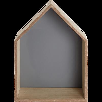 Étagère forme maison grise-DOLCE