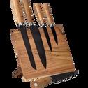Bloc de couteaux en acacia-VIO