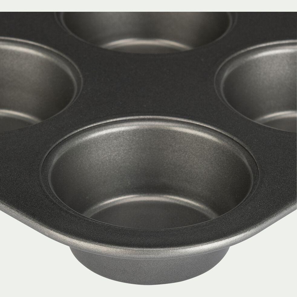 Plaque de 6 muffins en acier carbone 26cm-OLIZY