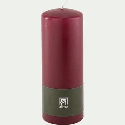 Bougie cylindrique - rouge sumac H20cm-HALBA