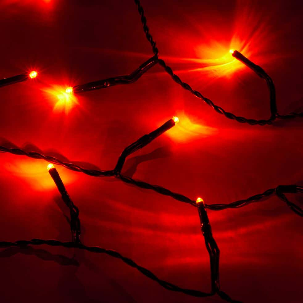 guirlande lumineuse 13,5m - 180 led rouge-BASIC