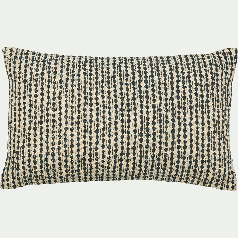 coussin en coton à motifs bleu figuerolles 30x50 cm-BARRAS