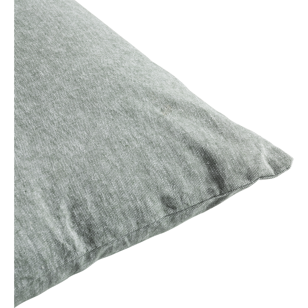 Coussin chambray vert cèdre 40x60cm-CORBIERE