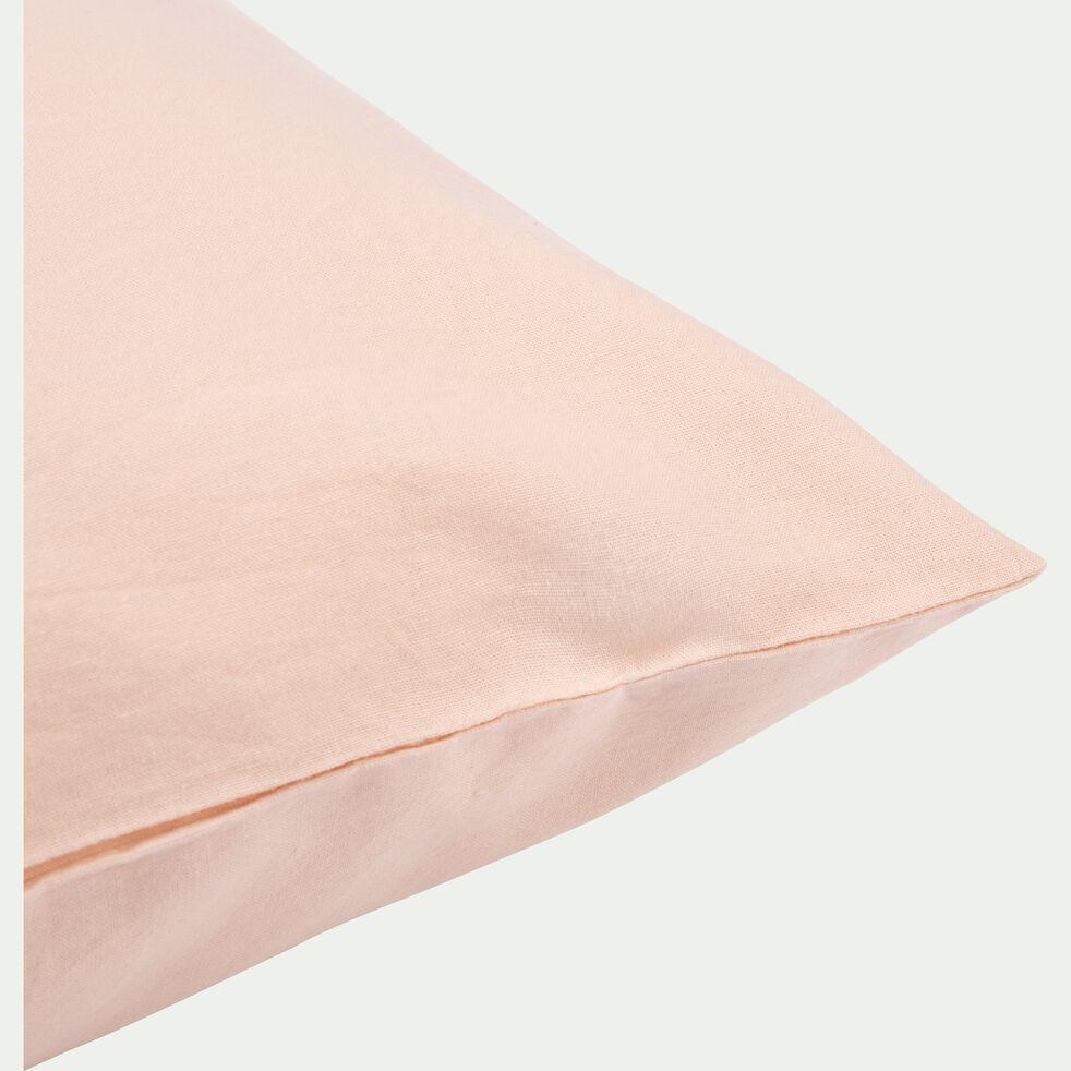 Taie d'oreiller en coton lavé sable rose 45x65 cm-CALANQUES