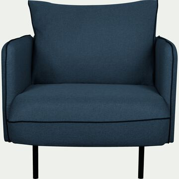 Fauteuil en tissu bleu figuerolles-SAOU