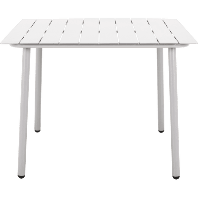 Table de jardin blanc en aluminium (2 à 4 places)-CENOZA
