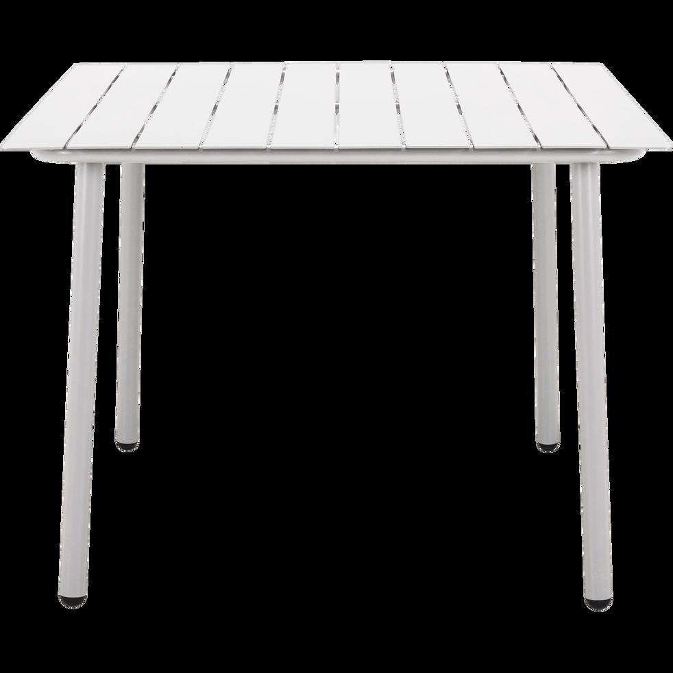 CENOZA - Table de jardin blanc en aluminium (2 à 4 places)