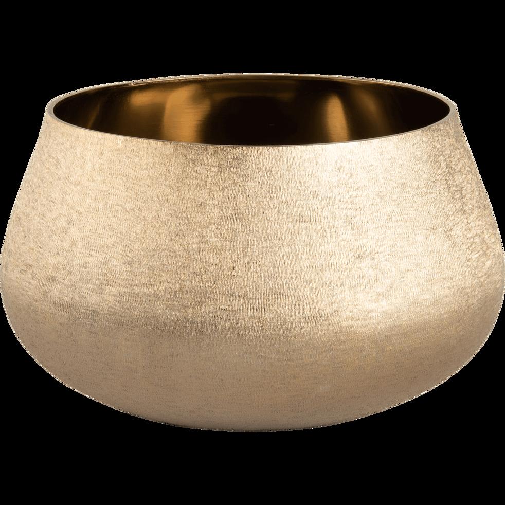 Photophore en aluminium doré D20xH12cm-MAIA