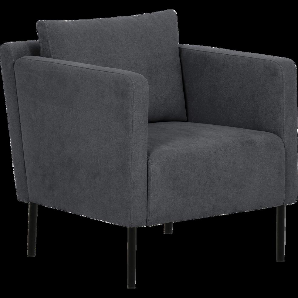 Fauteuil en tissu gris jenny fauteuils et poufs alinea - Alinea fauteuil jardin ...
