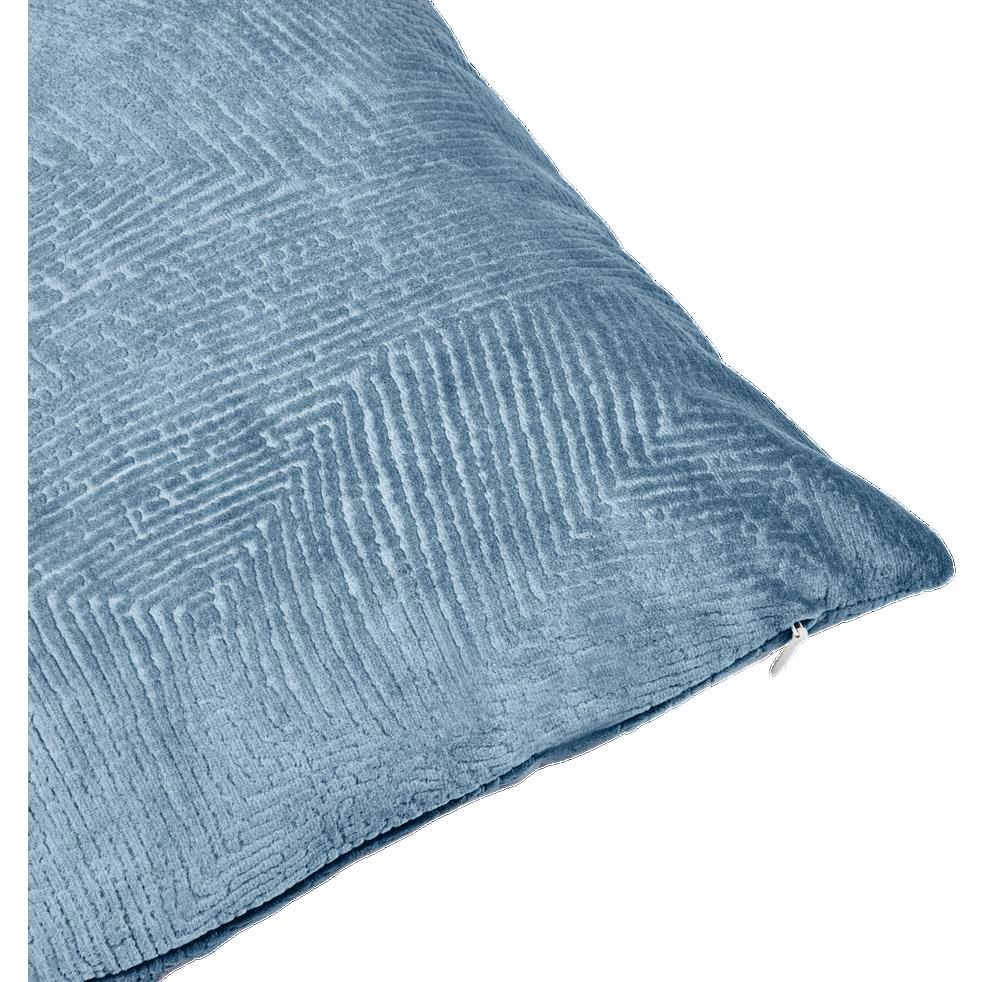 Coussin jacquard bleu grisé 30x50cm-GRETA