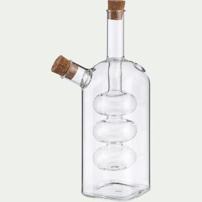 Huilier et vinaigrier 2 en 1 en verre - transparent 31cl-MELAR
