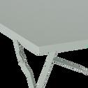 Table de jardin pliante vert olivier L70cm (2 places)-PIMS