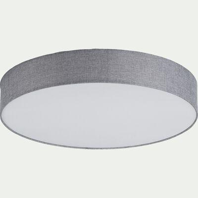 Plafonnier en tissu gris D57cm-PASTERI