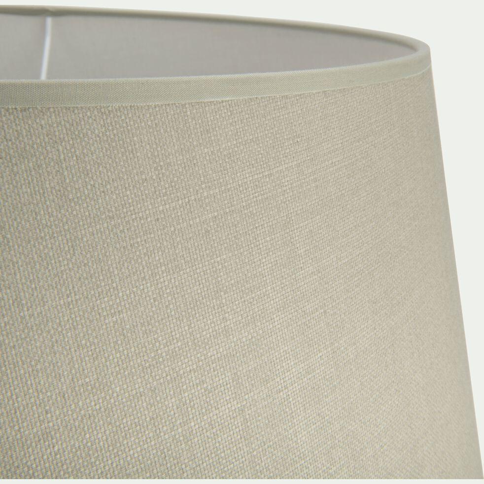 Abat-jour tambour en coton - D45cm vert olivier-MISTRAL