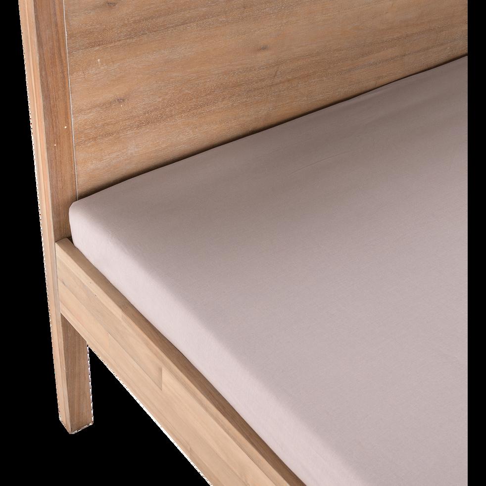 Lit 2 places avec tête de lit 140x200 cm-GAIA