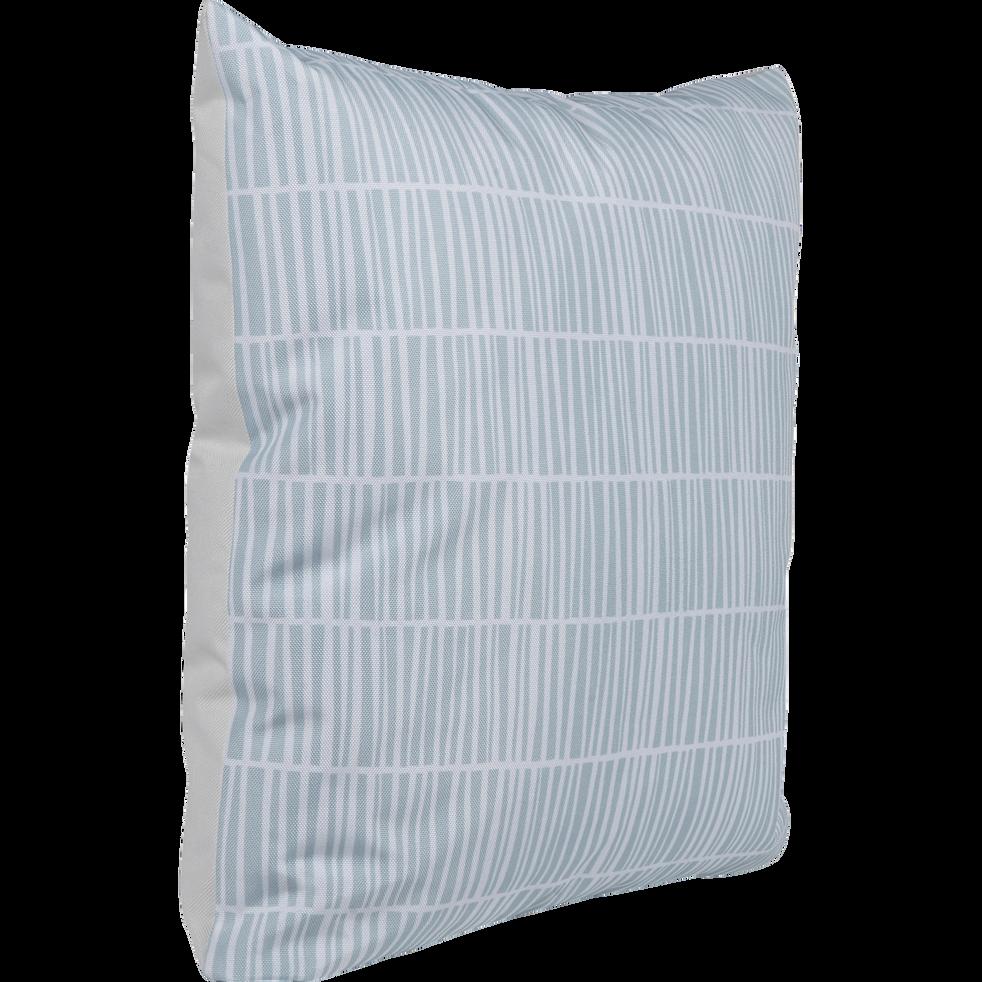 Coussin en coton déperlant à motifs vert 45x45cm-SAO