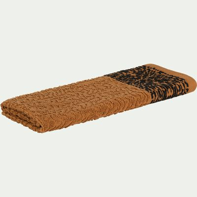 Serviette invité en coton bouclette - marron 30x50cm-NIL