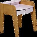 Bureau en acacia pour enfant rose-RAPHAEL