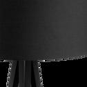 Lampadaire en métal noir H156cm-TRIX