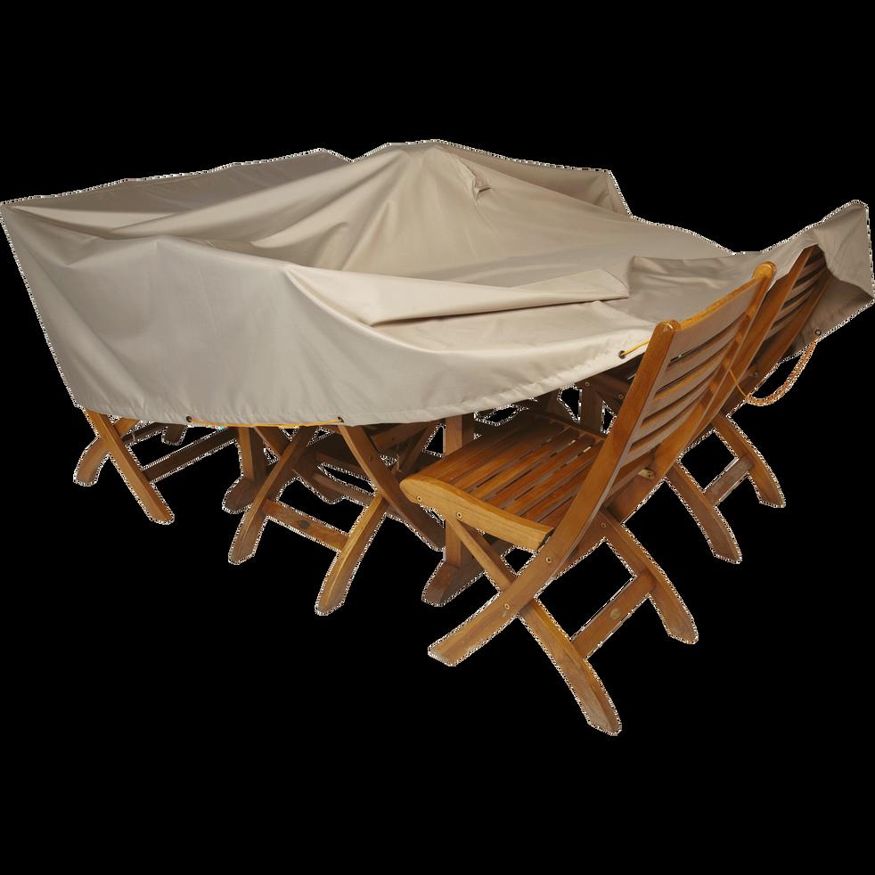 Protection taupe pour table de jardin (L200xP130xH60cm)-Housse prot