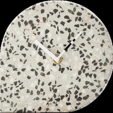 Horloge en terrazzo H14,5cm-FIORA