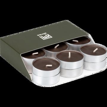18 bougies chauffe-plats brun ombre-HALBA