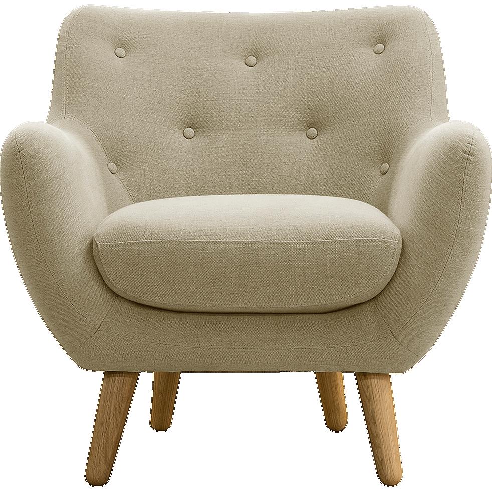 fauteuil tissu beige poppy fauteuils et poufs alinea. Black Bedroom Furniture Sets. Home Design Ideas